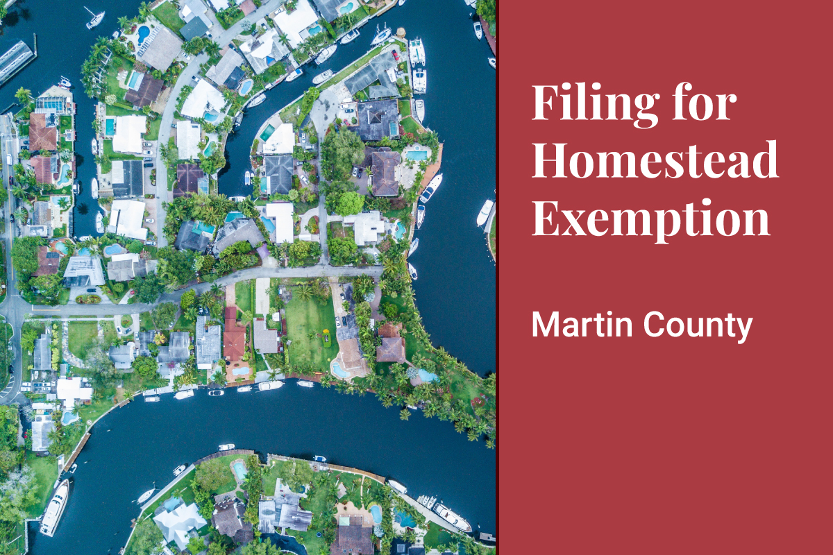 Martin County Homestead Exemption Banner